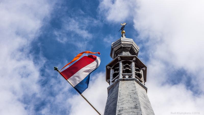 Tilburgse Beiaard met vlag
